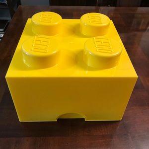 "Giant Lego Storage Box Block Cube 9 3/4"" x 9 3/4"""